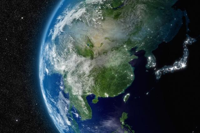 从太空看中国